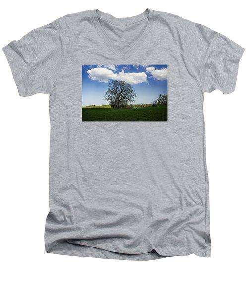 Shade Men's V-Neck T-Shirt by Dan Hefle
