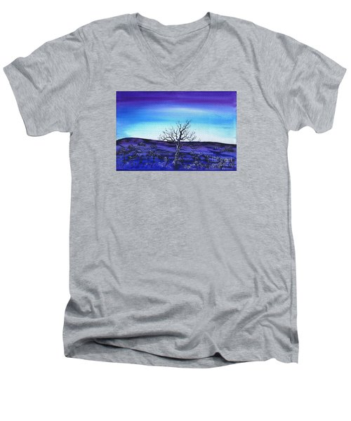 Shades Of Blue Men's V-Neck T-Shirt by Kenneth Clarke