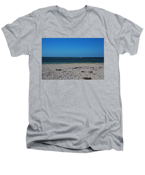 Men's V-Neck T-Shirt featuring the photograph Shades Of Blue by Michiale Schneider