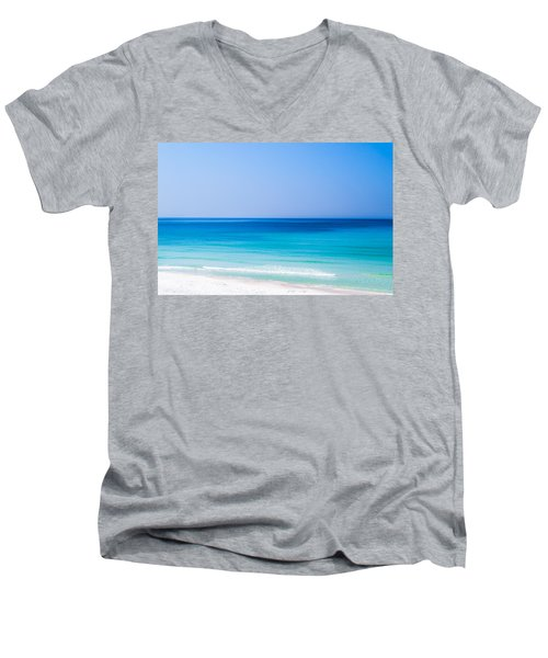 Shades Of Blue Men's V-Neck T-Shirt by Shelby  Young