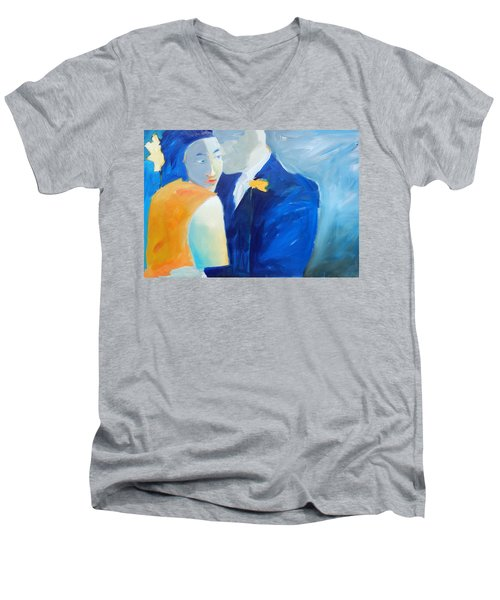 Shades Of Gray Men's V-Neck T-Shirt by Gary Coleman