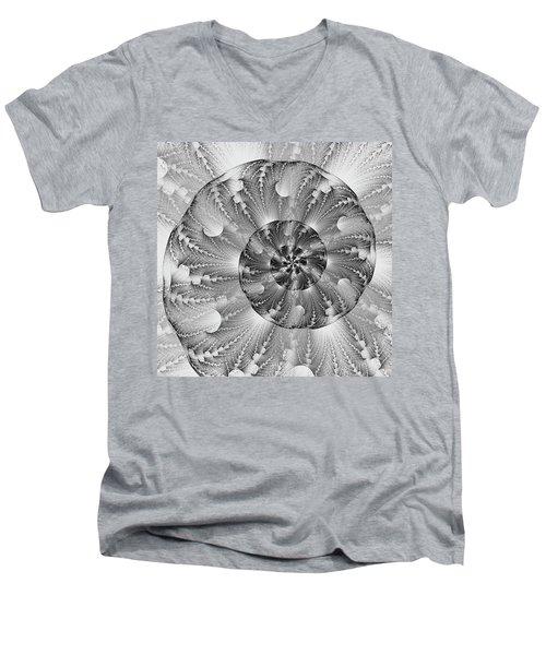 Shades Of Silver Men's V-Neck T-Shirt