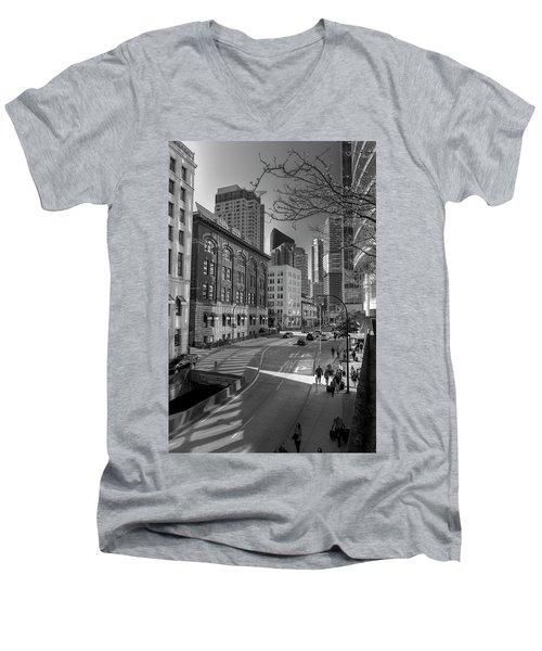 Shades Of The City Men's V-Neck T-Shirt