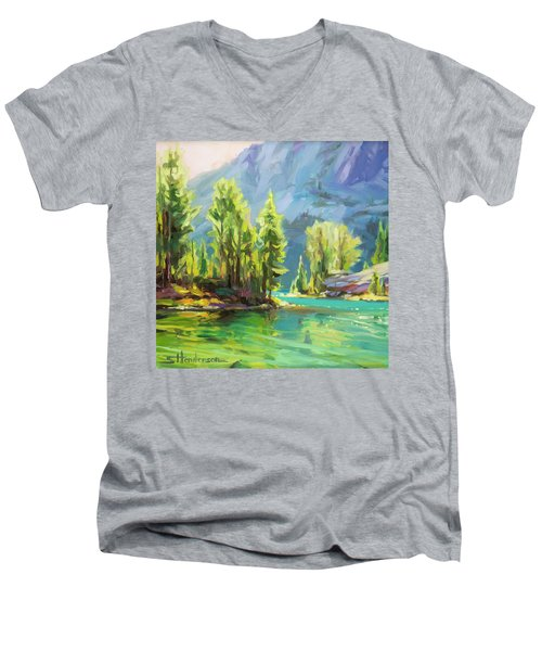Shades Of Turquoise Men's V-Neck T-Shirt