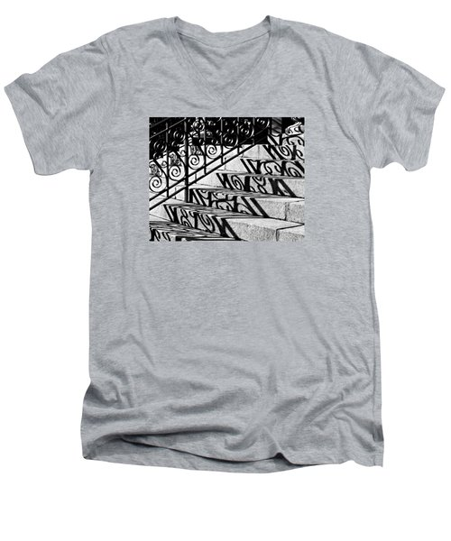 Shadow On The Rotunda Stairs Men's V-Neck T-Shirt