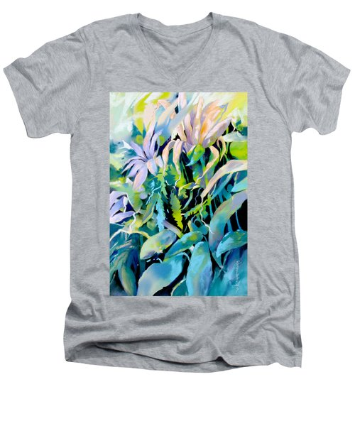 Shadowed Delight Men's V-Neck T-Shirt by Rae Andrews