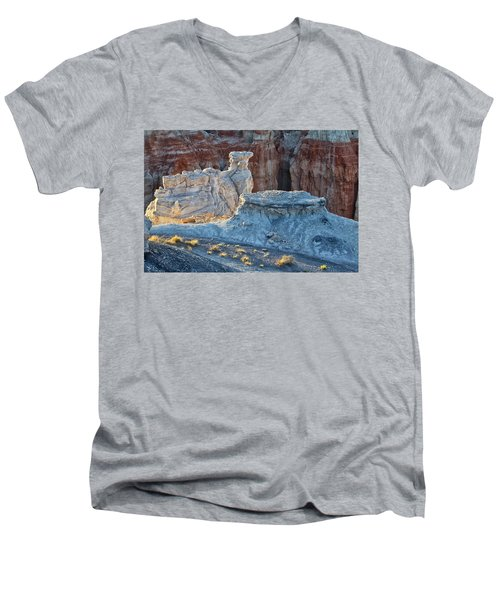 Shadows At Coal Mine Canyon Men's V-Neck T-Shirt by Tom Kelly