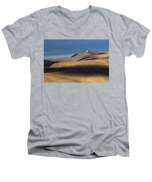 Shadows On Hills Men's V-Neck T-Shirt by Hitendra SINKAR