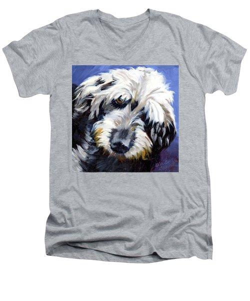 Shaggy Dog Portrait Men's V-Neck T-Shirt