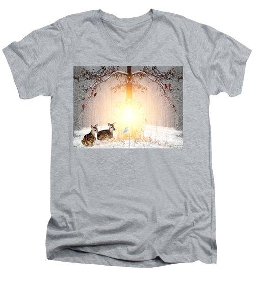 Shalom Men's V-Neck T-Shirt by Bill Stephens