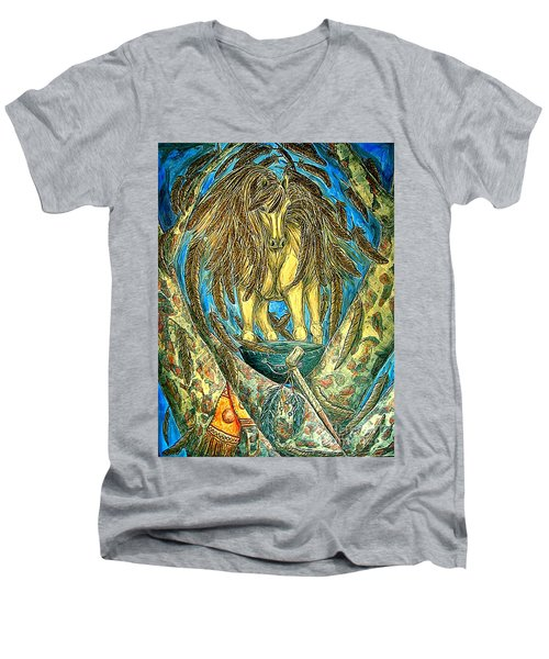 Shaman Spirit Men's V-Neck T-Shirt by Kim Jones