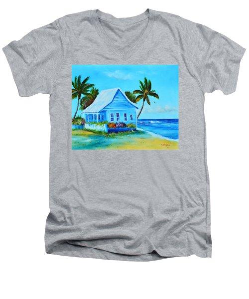 Shanty In Jamaica Men's V-Neck T-Shirt