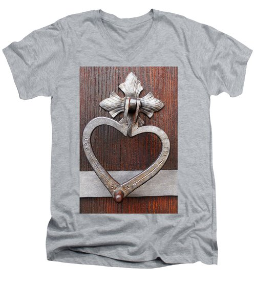 Men's V-Neck T-Shirt featuring the photograph Shape Of My Heart by Juergen Weiss