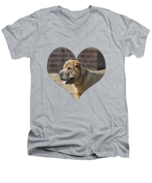 Shar Pei Heart Men's V-Neck T-Shirt