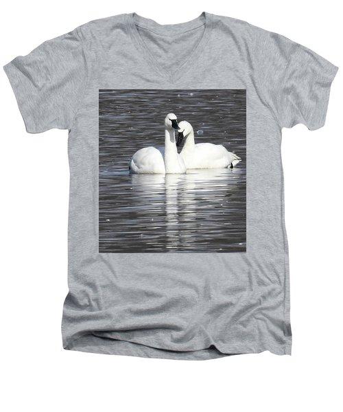 Sharing A Moment Men's V-Neck T-Shirt by Gary Wightman
