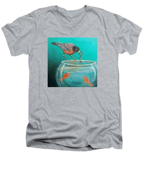 Sharing Men's V-Neck T-Shirt by Susan DeLain