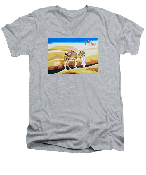 Sharing The Journey Men's V-Neck T-Shirt by Ragunath Venkatraman