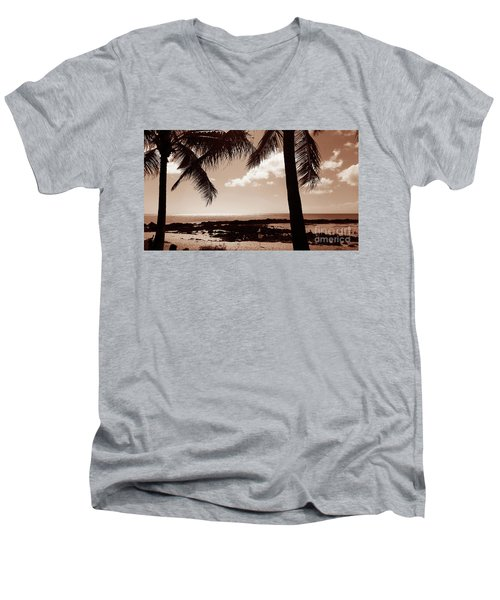 Men's V-Neck T-Shirt featuring the photograph Shark's Cove by Kristine Merc