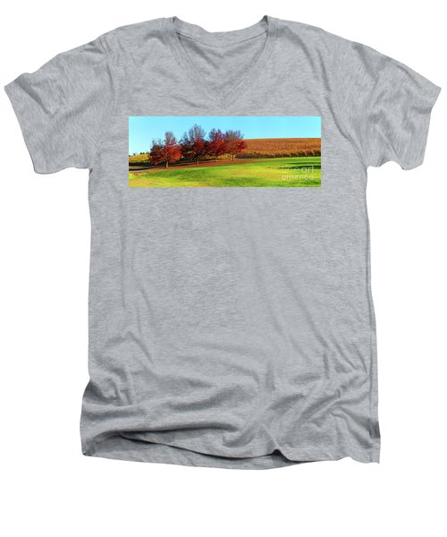 Shaw And Smith Winery Men's V-Neck T-Shirt by Bill Robinson