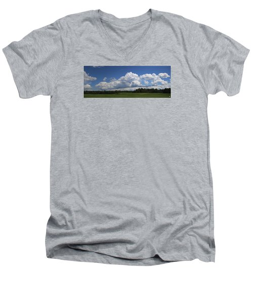 Shawmut Sky Men's V-Neck T-Shirt