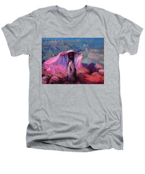 She Danced By The Light Of The Moon Men's V-Neck T-Shirt