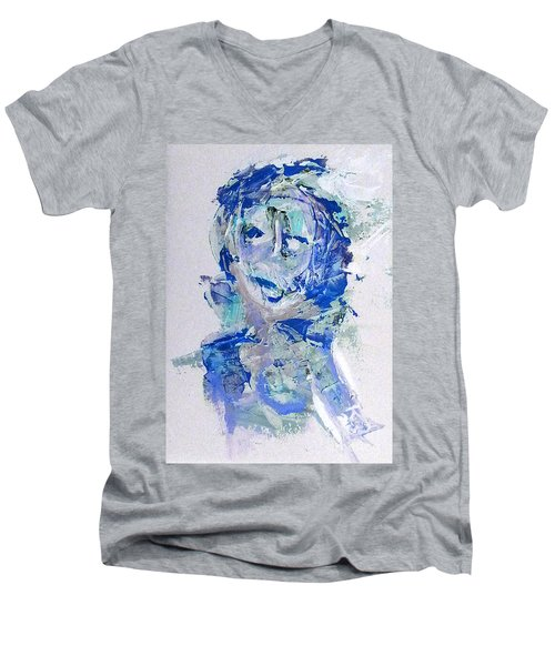 She Dreams In Blue Men's V-Neck T-Shirt
