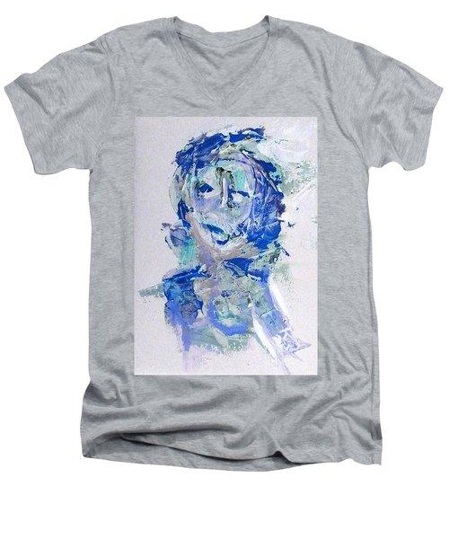 She Dreams In Blue Men's V-Neck T-Shirt