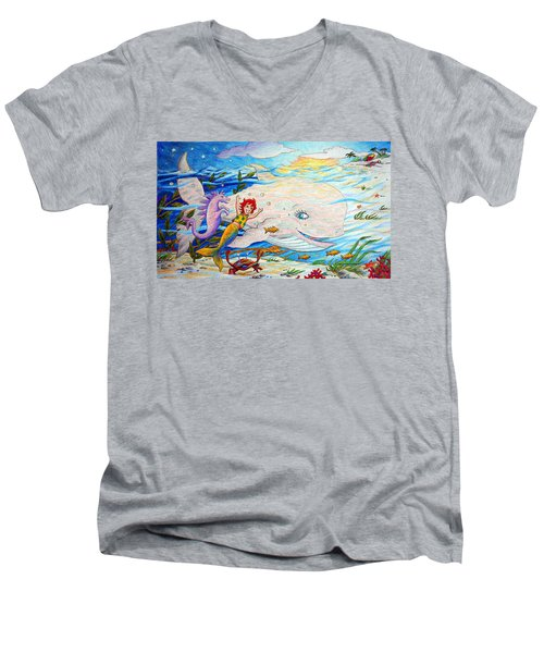 She Joyfully Swims  Men's V-Neck T-Shirt