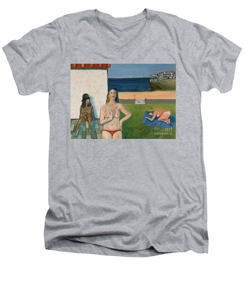 She Walks In Beauty Men's V-Neck T-Shirt