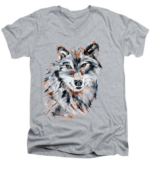 She Wolf - Animal Art By Valentina Miletic Men's V-Neck T-Shirt