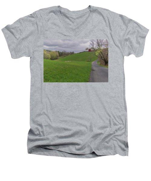 Shelburne Country Road Men's V-Neck T-Shirt by Tom Singleton