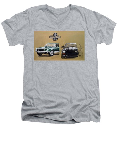 Shelby 40th Anniversary Men's V-Neck T-Shirt