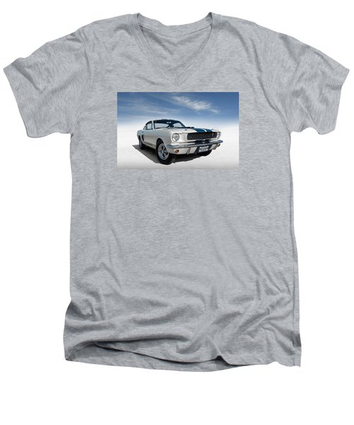 Men's V-Neck T-Shirt featuring the digital art Shelby Mustang Gt350 by Douglas Pittman