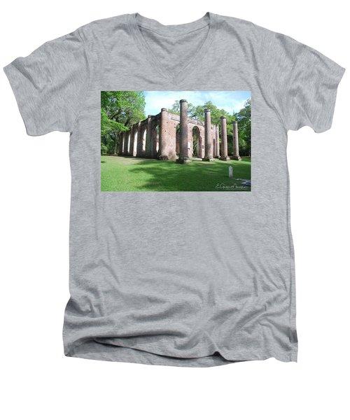 Sheldon Church 3 Men's V-Neck T-Shirt by Gordon Mooneyhan