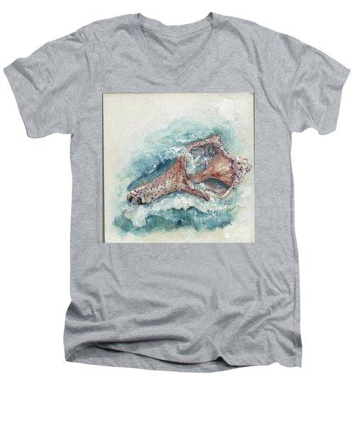 Shell Gift From The Sea Men's V-Neck T-Shirt by Doris Blessington