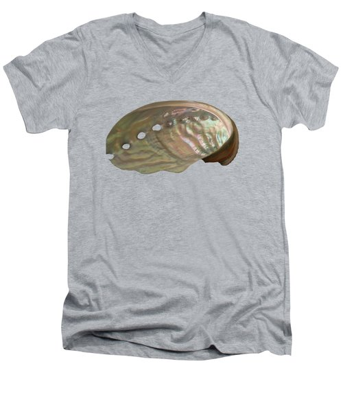 Shell Transparency Men's V-Neck T-Shirt