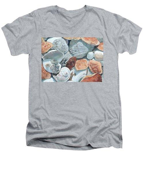 Shells Of The Puget Sound Men's V-Neck T-Shirt