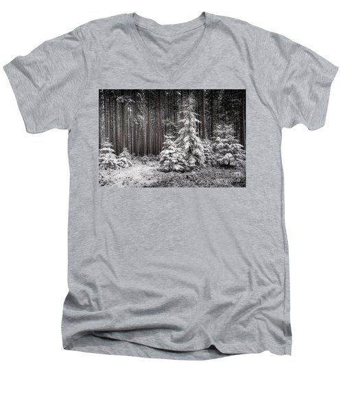 Men's V-Neck T-Shirt featuring the photograph Sheltered Childhood by Hannes Cmarits