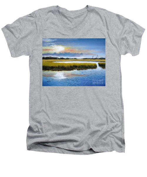 Shem Creek Sky Men's V-Neck T-Shirt