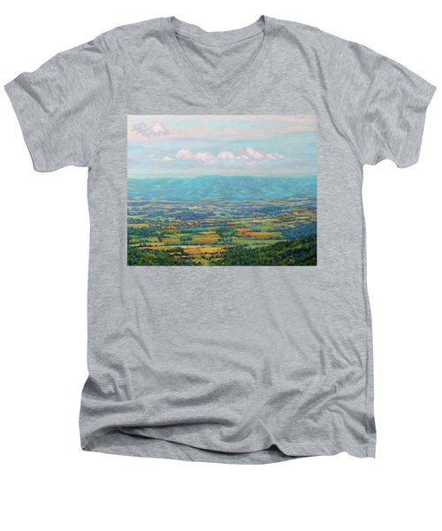 Shenandoah Blue Men's V-Neck T-Shirt