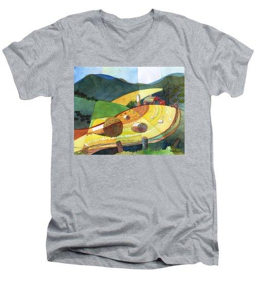 Shenandoah Haystacks Men's V-Neck T-Shirt