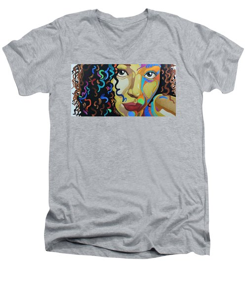 She's Complicated Men's V-Neck T-Shirt