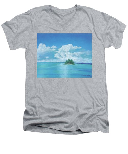 Shimmering Men's V-Neck T-Shirt