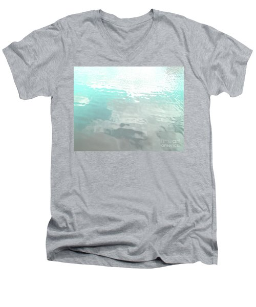 Let The Water Wash Over You. Men's V-Neck T-Shirt by Rebecca Harman