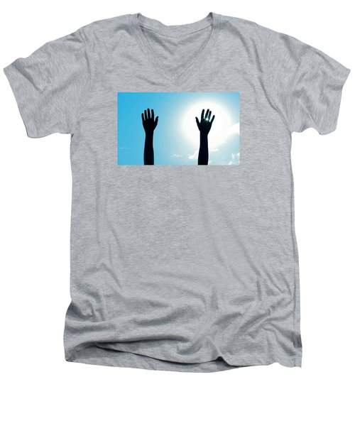 Shine On Men's V-Neck T-Shirt by DAKRI Sinclair
