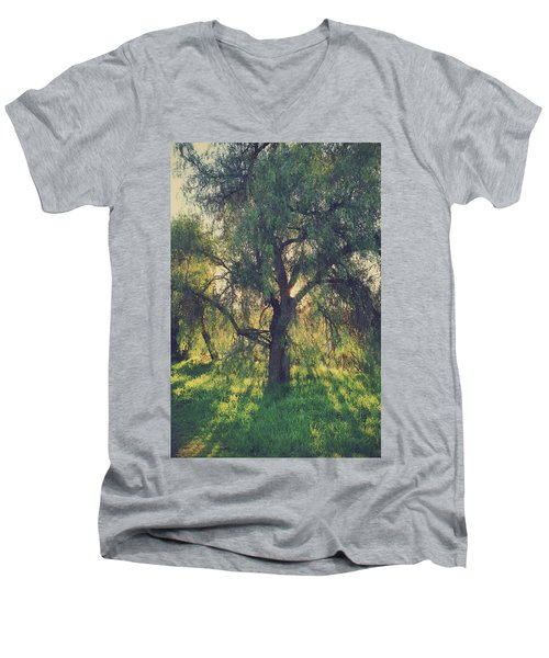 Men's V-Neck T-Shirt featuring the photograph Shine Your Light by Laurie Search