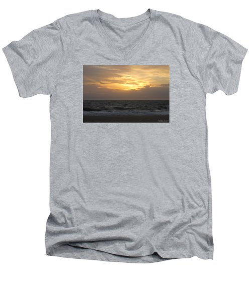 Men's V-Neck T-Shirt featuring the photograph Shining Clouds by Robert Banach