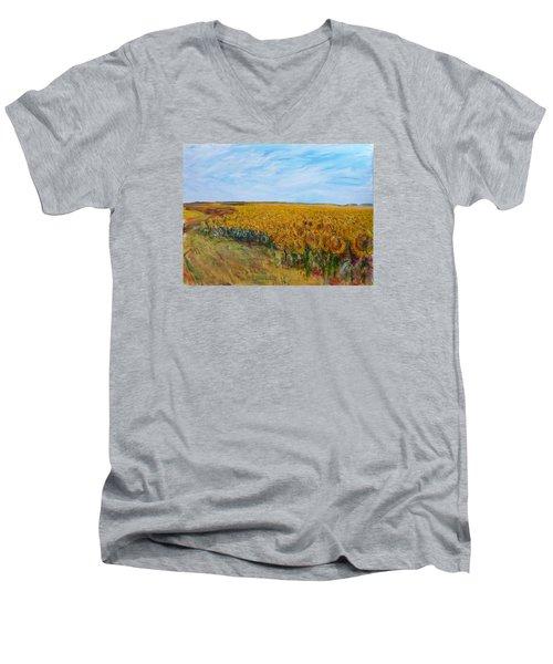 Sunny Faces Men's V-Neck T-Shirt