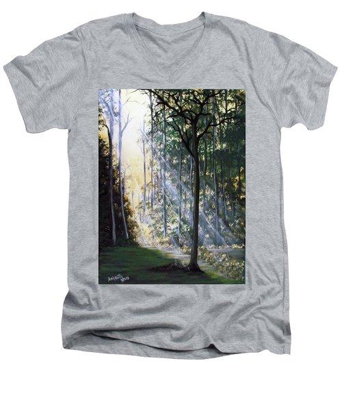 Shining Through Men's V-Neck T-Shirt