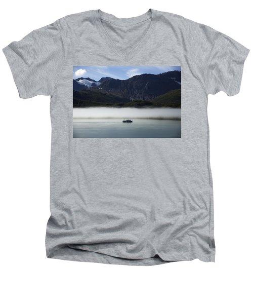 Ship In The Fog Men's V-Neck T-Shirt